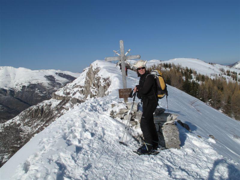 Sul Monte la Guardia con la ripida parete ovest