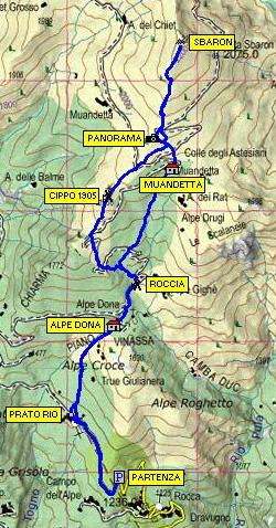 Cartina percorso