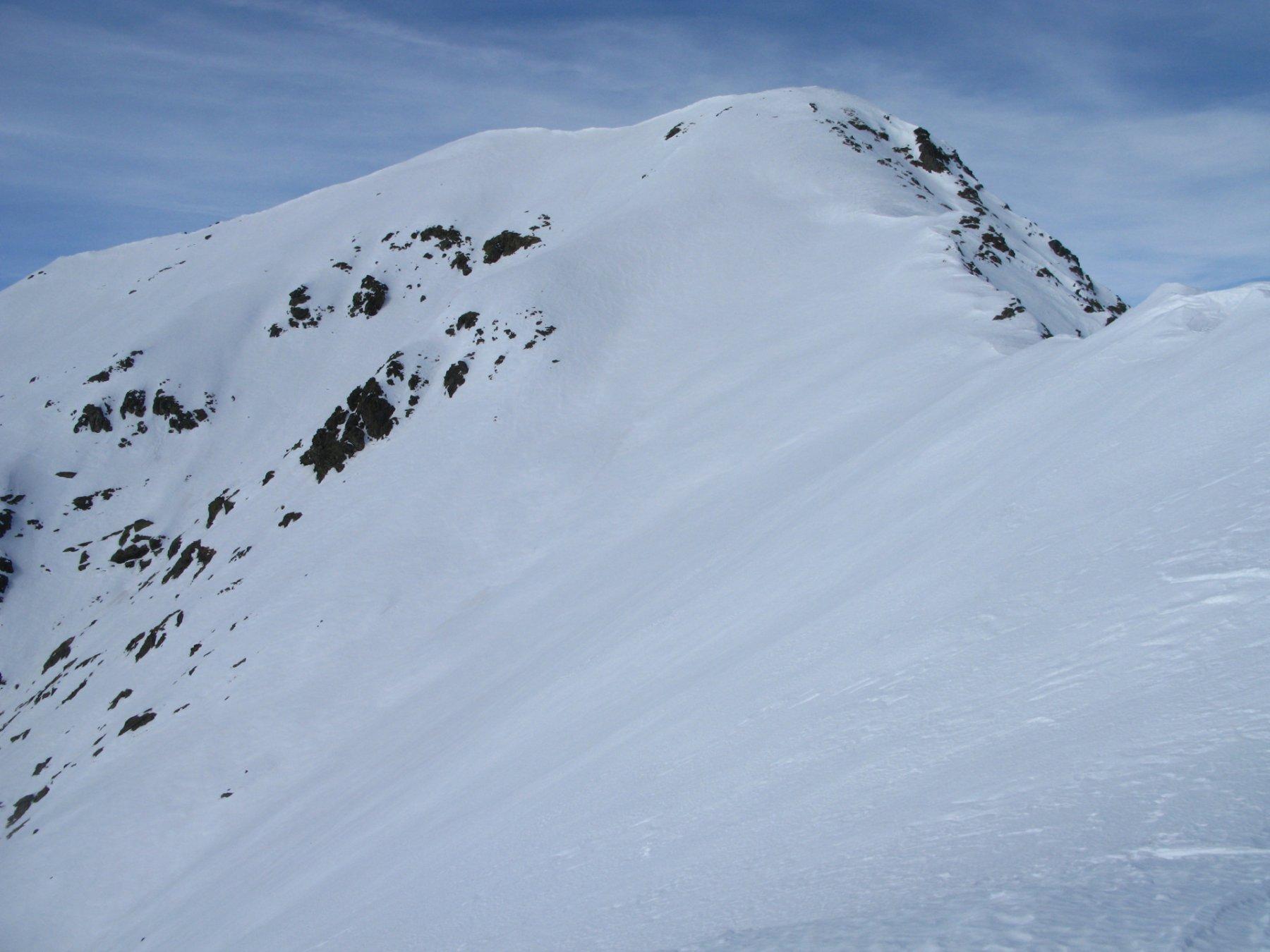 parte alta della cresta SE del Monte Frioland