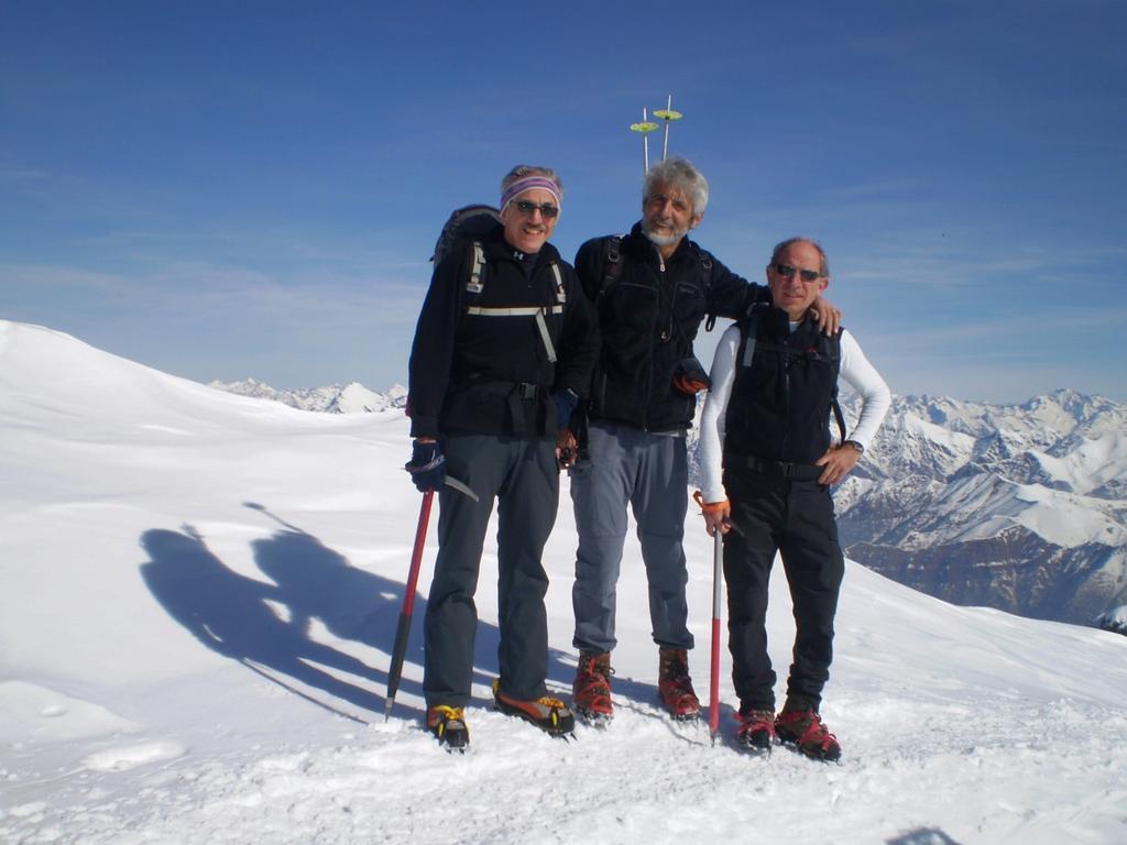 Con Peppino e Massimo in cima