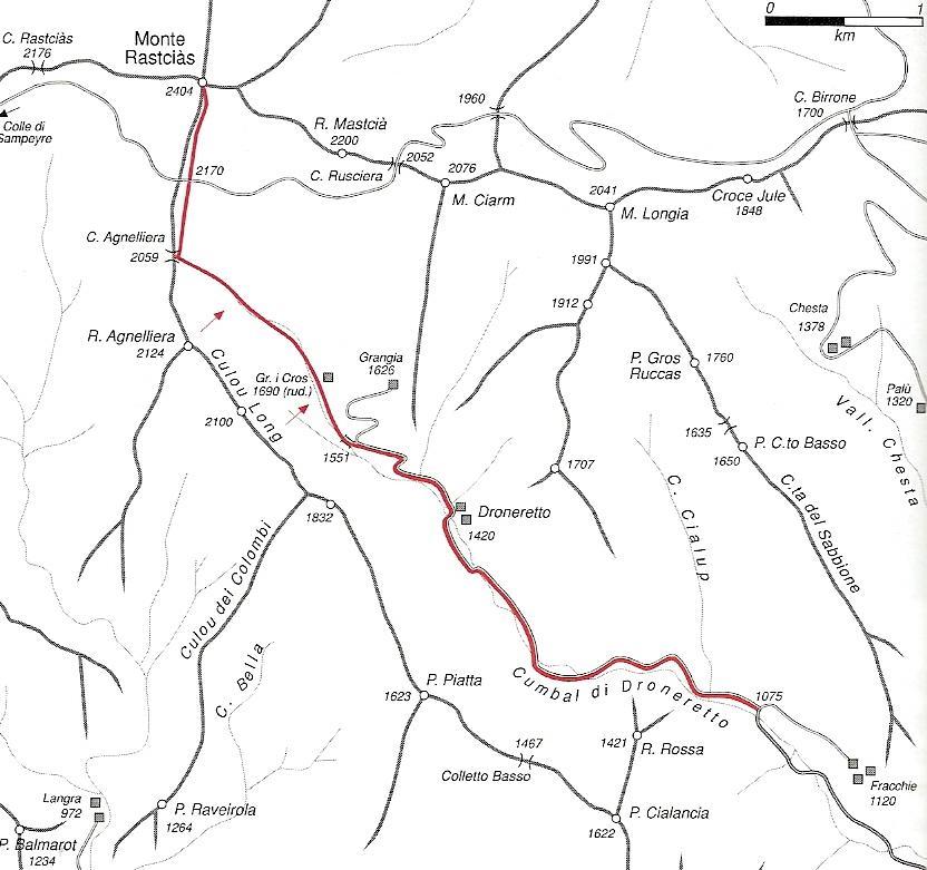 Itinerario di salita