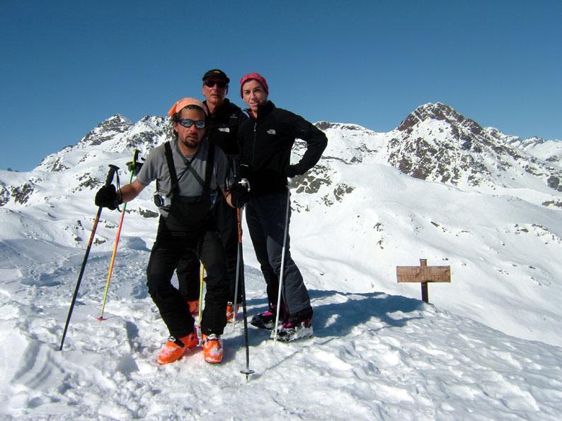 Fabio, Piero ed Elena in punta
