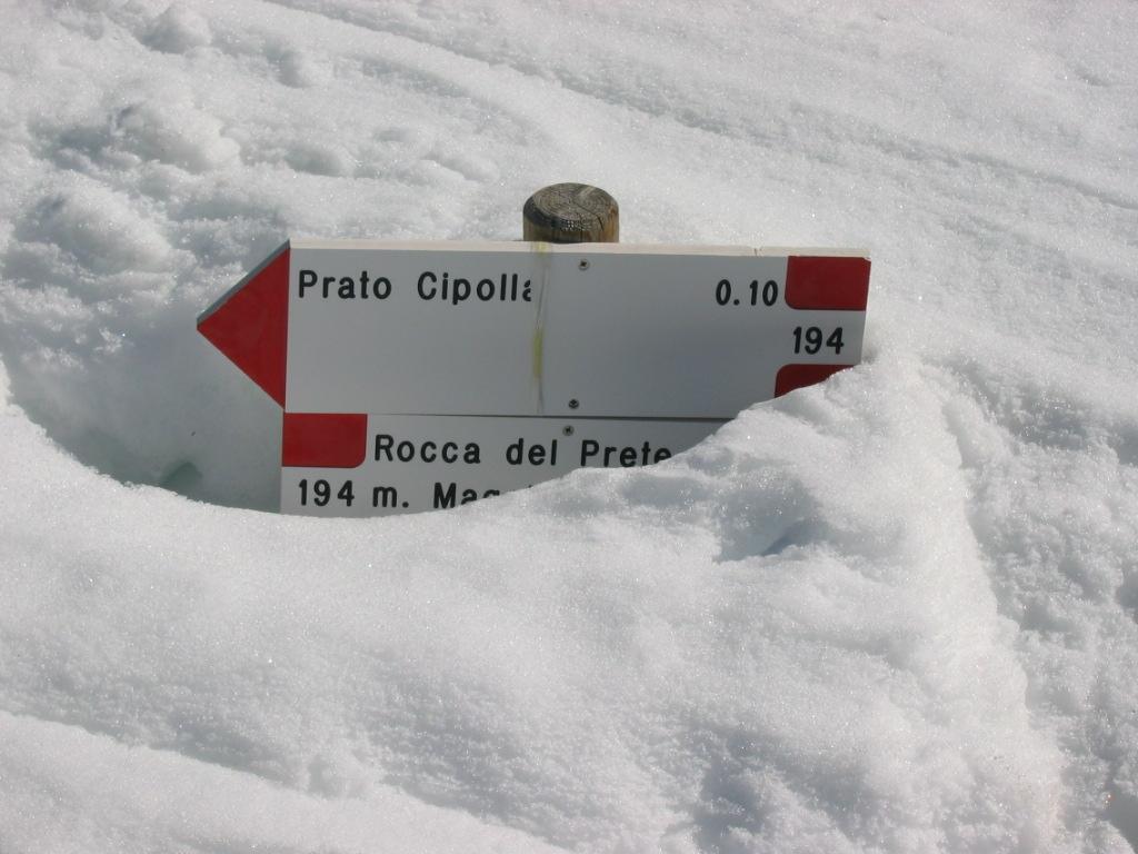 Oltre un metro ancora di neve