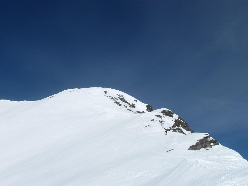 l'ultima parte della cresta con la vetta