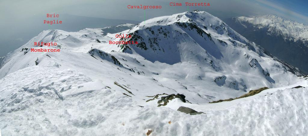 Panorama dalla cima verso S. Giacomo