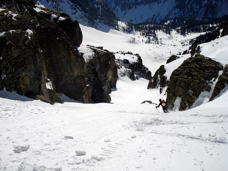 Il Canale delle Forciolline con gli sci è meglio