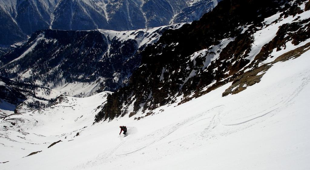 Discesa quota 3200 m. ca