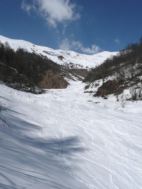 Frioland (Monte) da Borgo Crissolo per il colle Frioland 2009-03-21