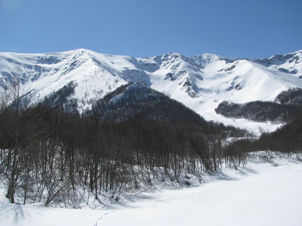 Monte Merqua dal fondo del vallone