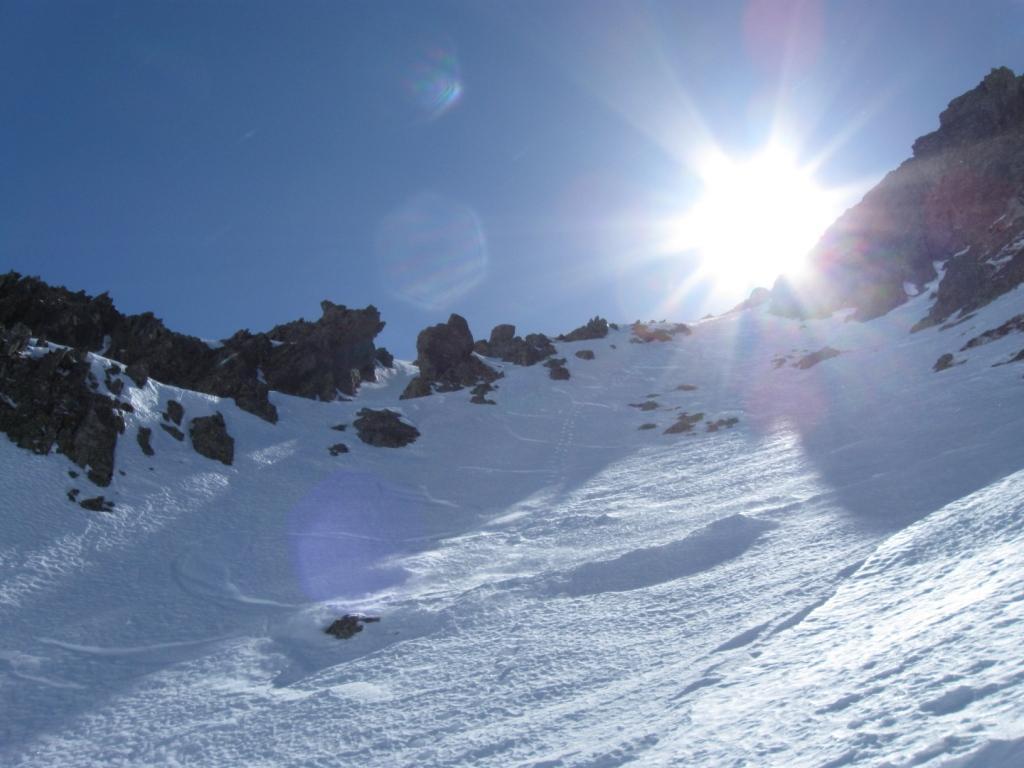 curve su neve perfetta
