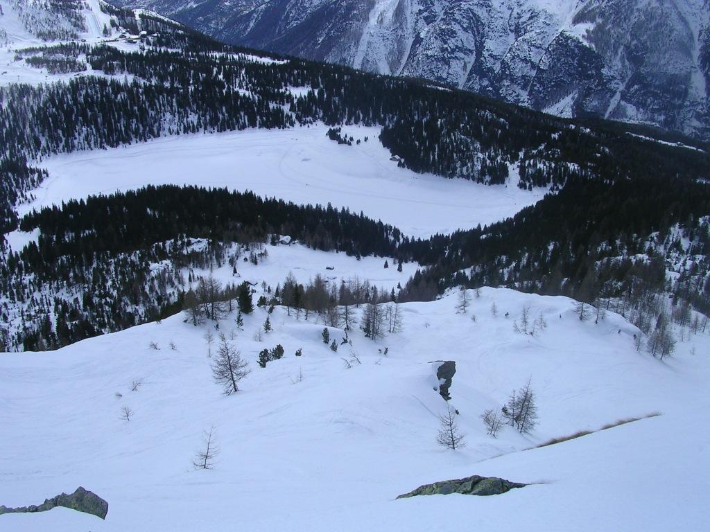 La variante di salita e discesa dell'Alpe Roggione
