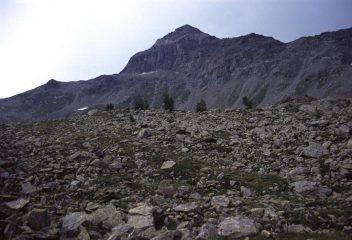 il Pizzo Scalino osservato dal Rifugio Cristina (7-8-2003)