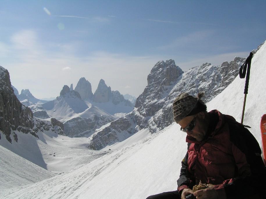 Luis in pausa e le tre cime