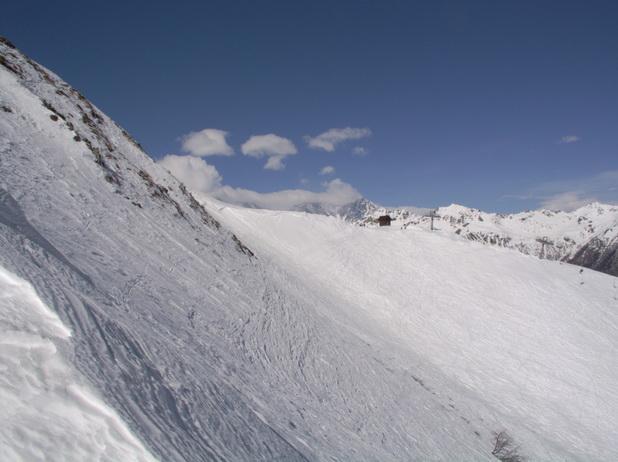 uno sguardo verso le piste da sci