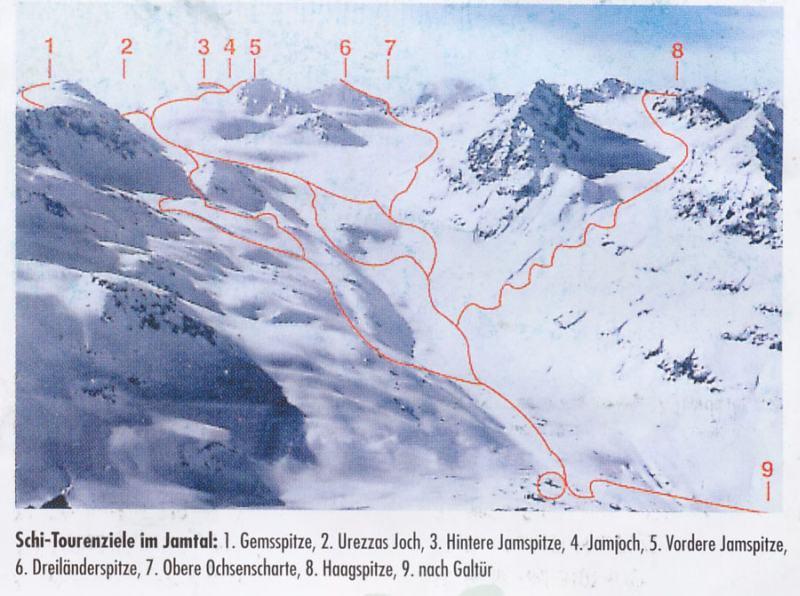 Breite Krone, Dreilander Sp., Piz Buin, Rauher Kr. da Ischgl, Tour Silvretta (5-7 gg) 2007-01-01