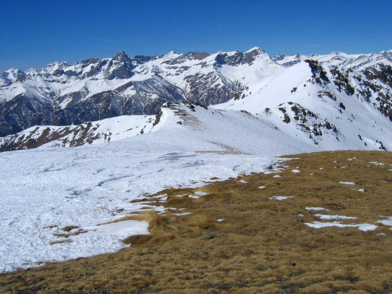 La dorsale e la Val Maira...
