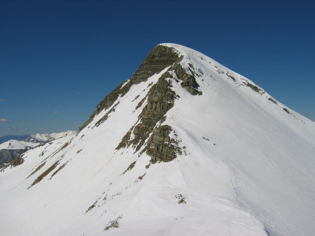 La cresta del Cusna verso il Sasso