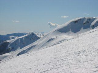 Il crinale con la Piella e l'Alpe Vallestrina