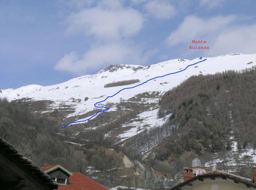 Itinerario Monte Ruissas, visto da Villaro