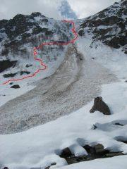 il canale che porta all'alpe san bernè, condizioni attuali...