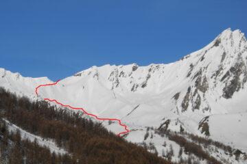 Il percorso di salita   I   Le parcours de la montée   I   The route going up    I   Die Aufstiegsroute   I   El recorrido de subida