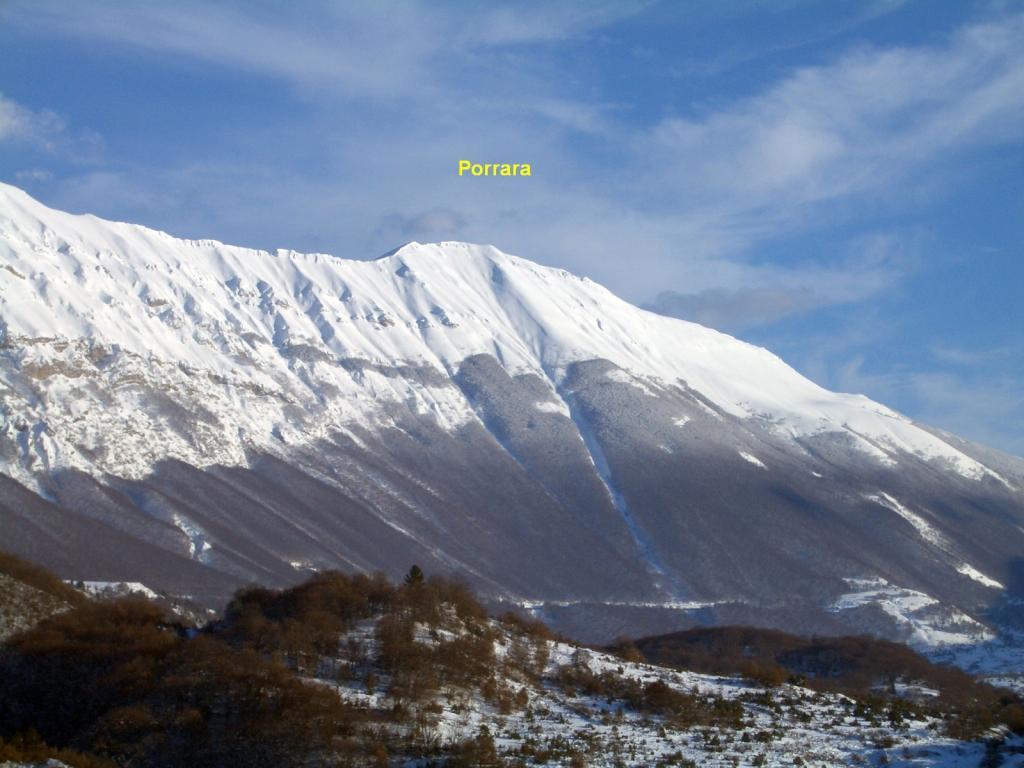 Porrara (Monte) per il Vallone Bianco 2011-02-28
