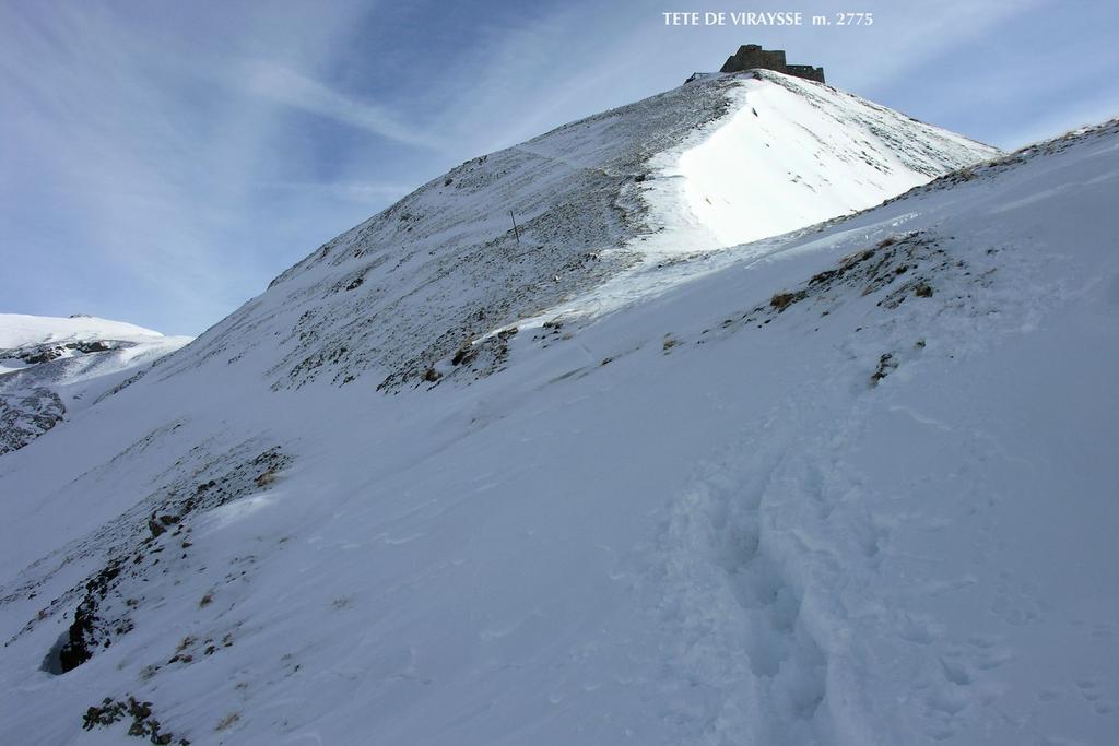 la vetta della Tete de Viraysse si avvicina...! (8-1-2006)