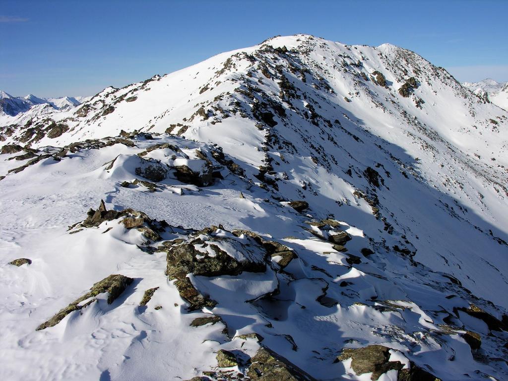 la parte finale della cresta Est che porta in vetta al Pic du Lac Blanc (31-12-2006)