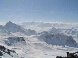 Veduta su Palù e Bernina