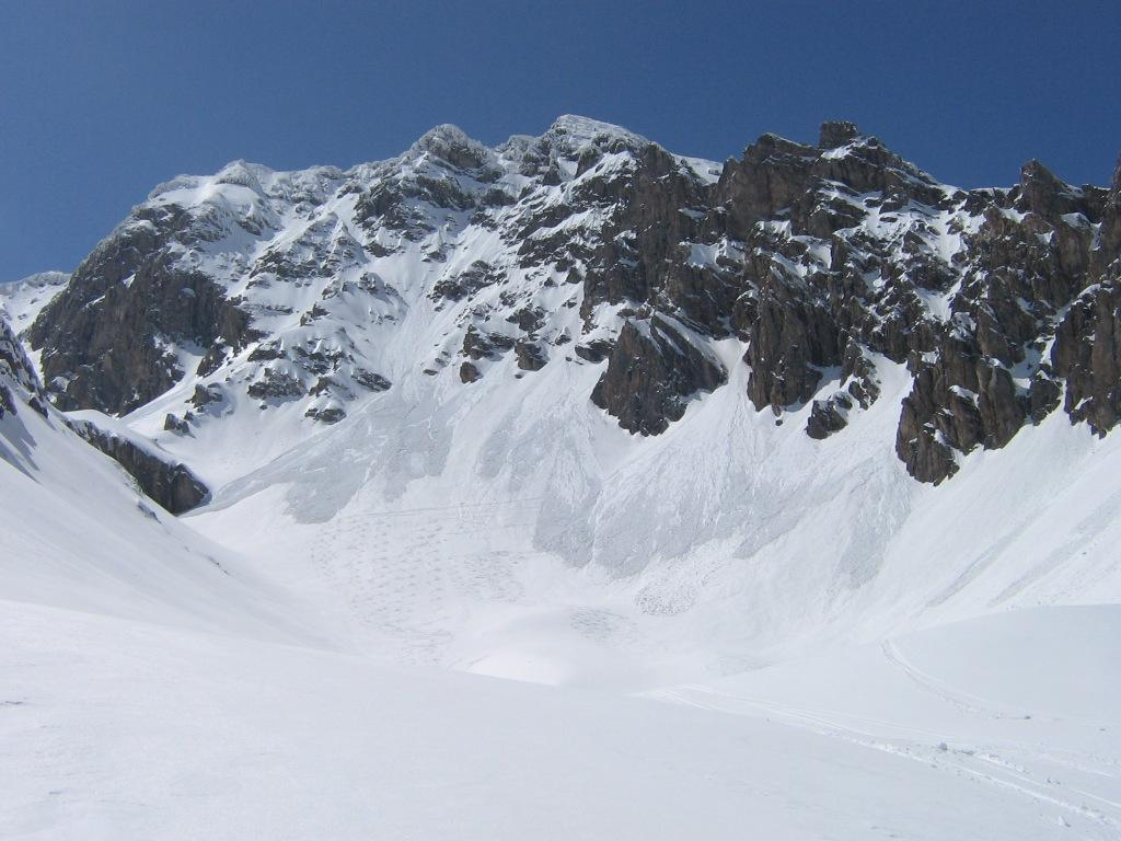Monte Sautron dal vallone di discesa