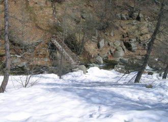 il ponte sul rio Pairent a pian Guraj