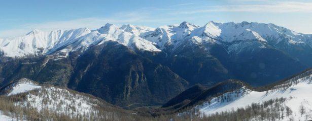 panorama verso il gruppo Orsiera-Rocciavré