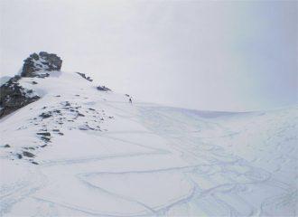 La Cami a pochi metri dalla cima