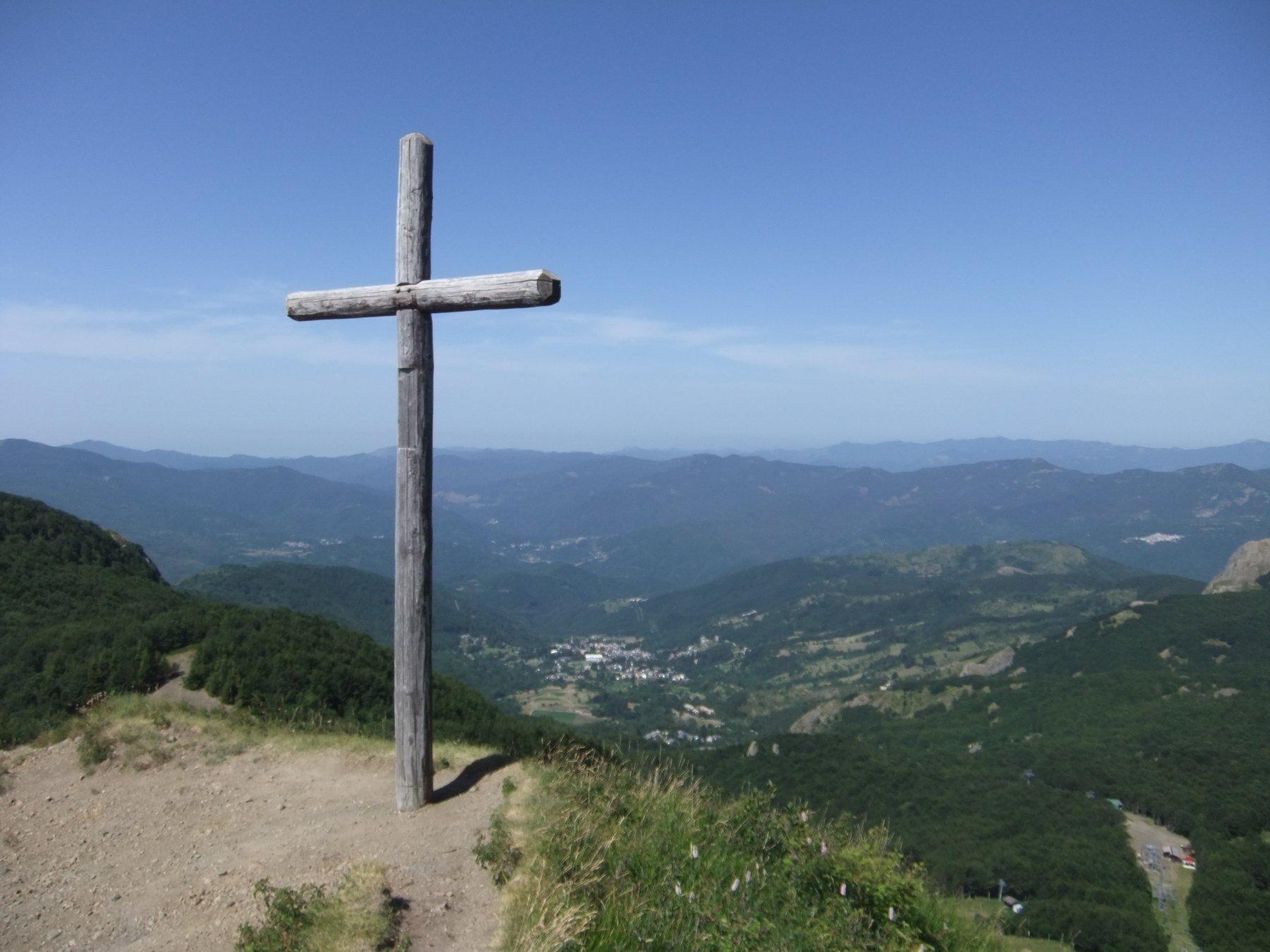 Panorama dalla cima del Monte Bue