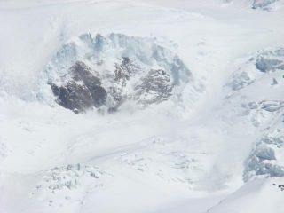distacco lato ghiacciaio Lys