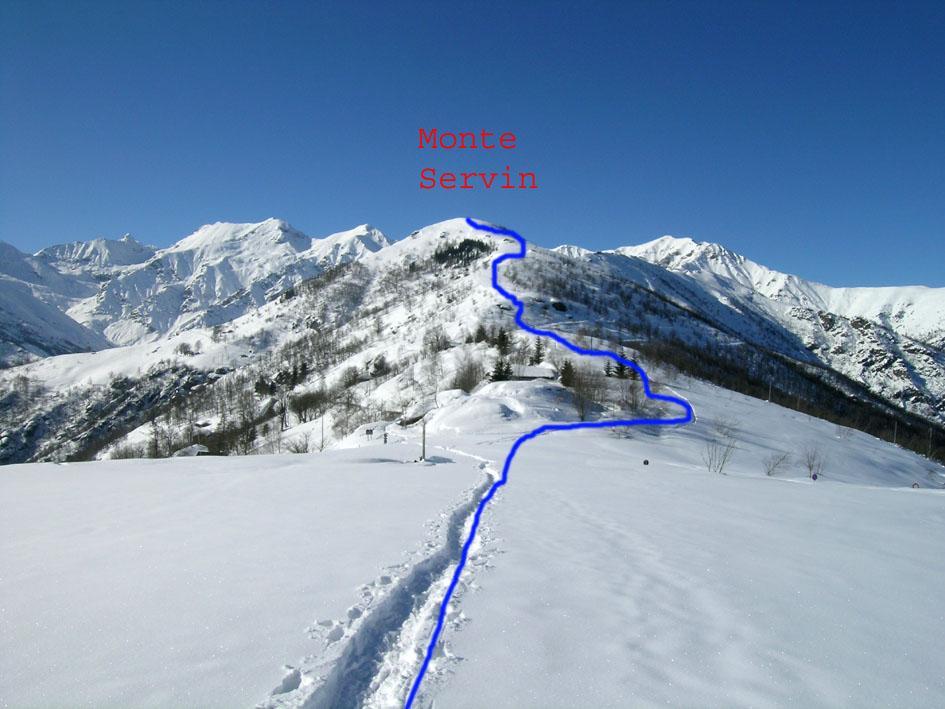 Itinerario Monte Servin, dal colle della Vaccera
