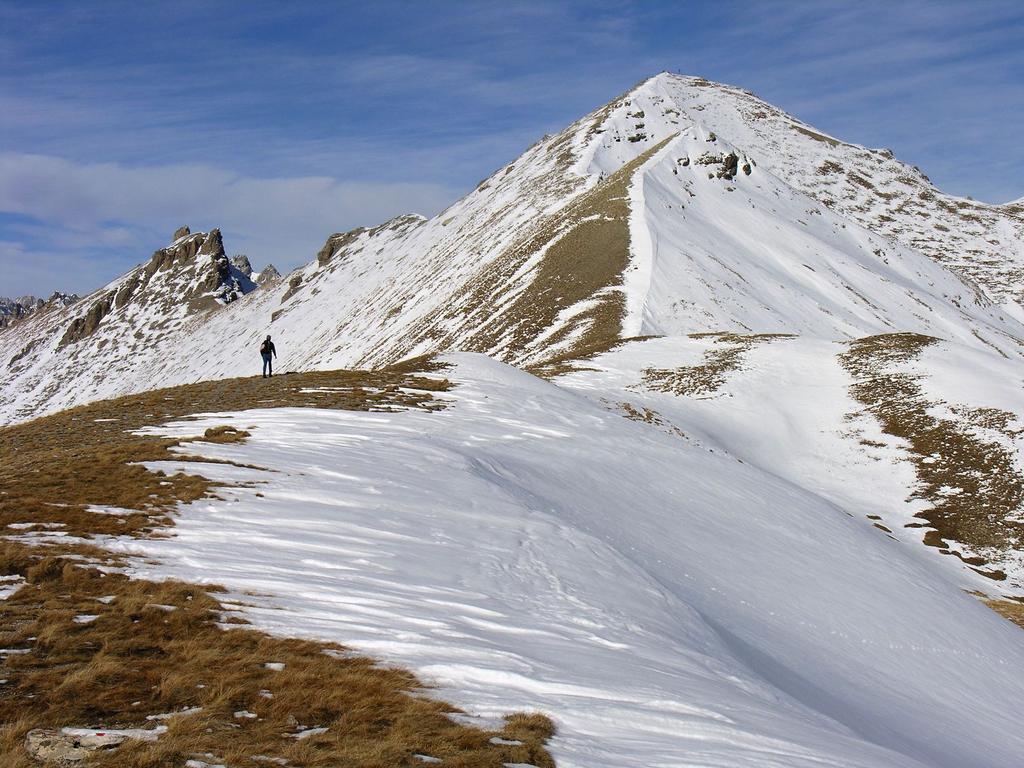 il Monte Soubeyran visto dal Colle delle Munie (26-11-2006)