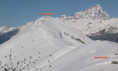 dal Monte Cornet verso il Monte Birrone (...e Monviso...)