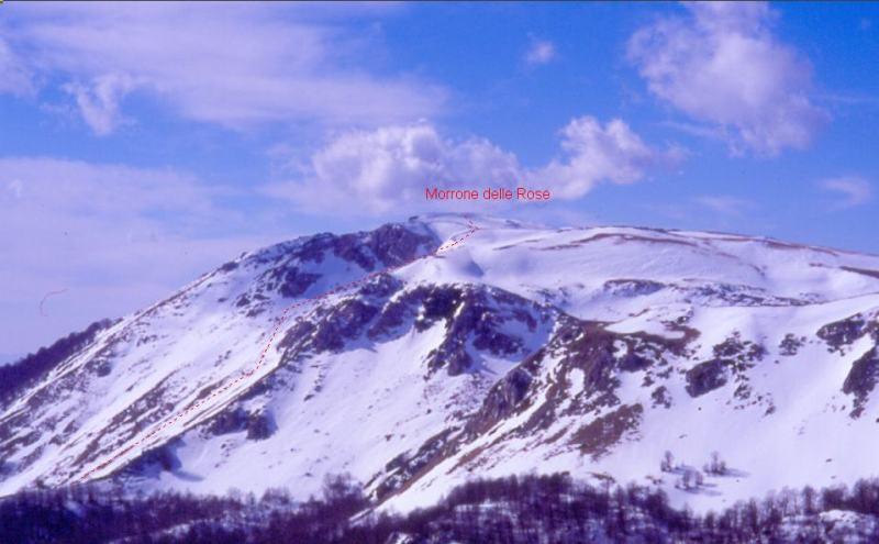 Mare (Monte), Morrone delle Rose da Collelongo 2006-02-27