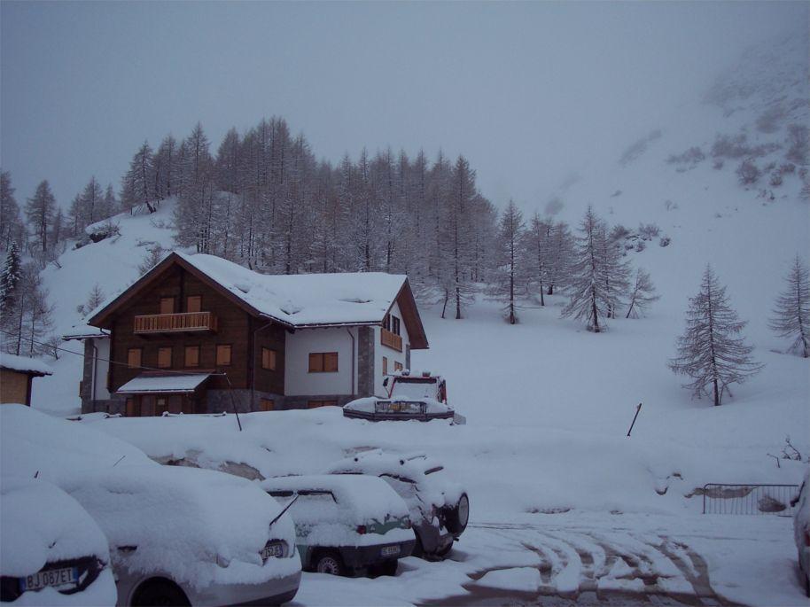 immagine invernale alla partenza