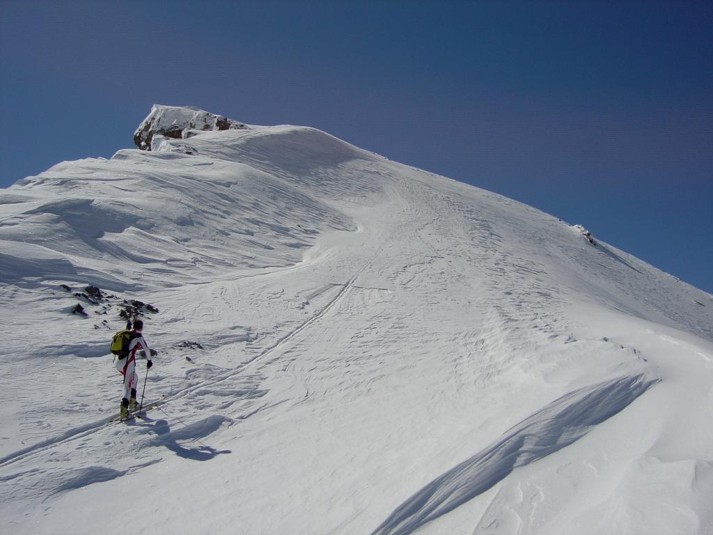 In prossimita della cima