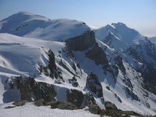Vista su Mongioie e Conoia, dall'uscita