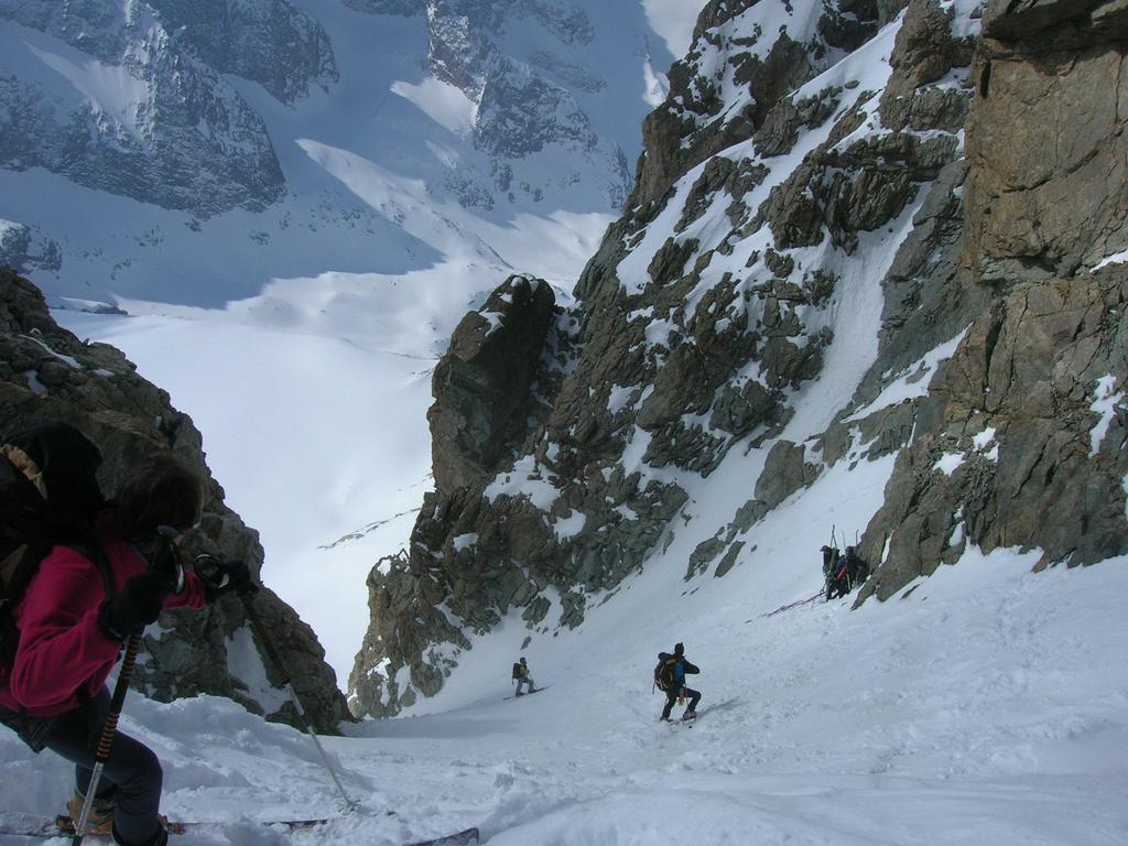 Inizio discesa dal Col de la Girose