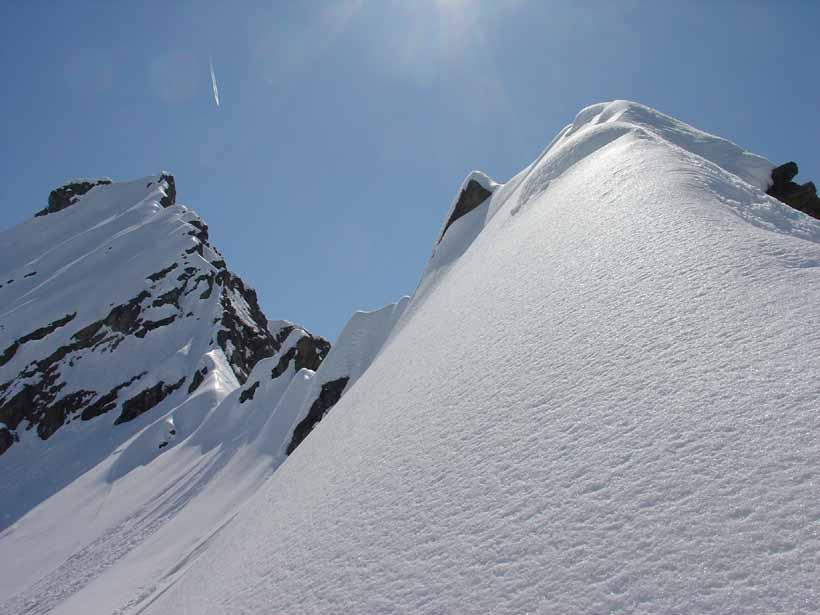 La cresta verso il Bec del Fauset
