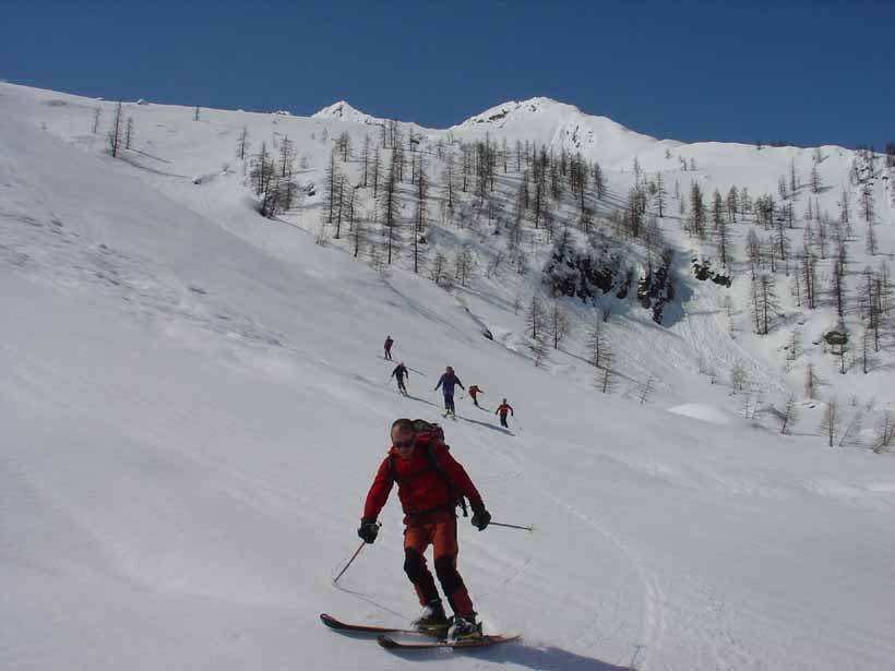 La squadra scende all'Alpe Ciavanna
