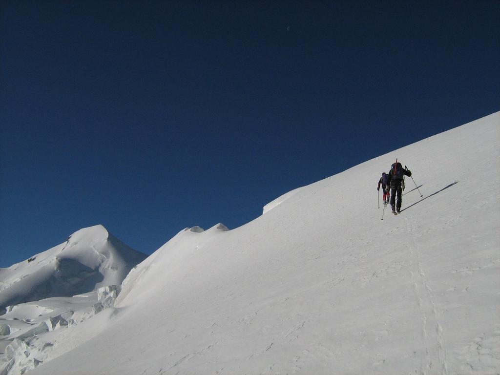 quota 3600 sullo sfondo l'Allalinhorn