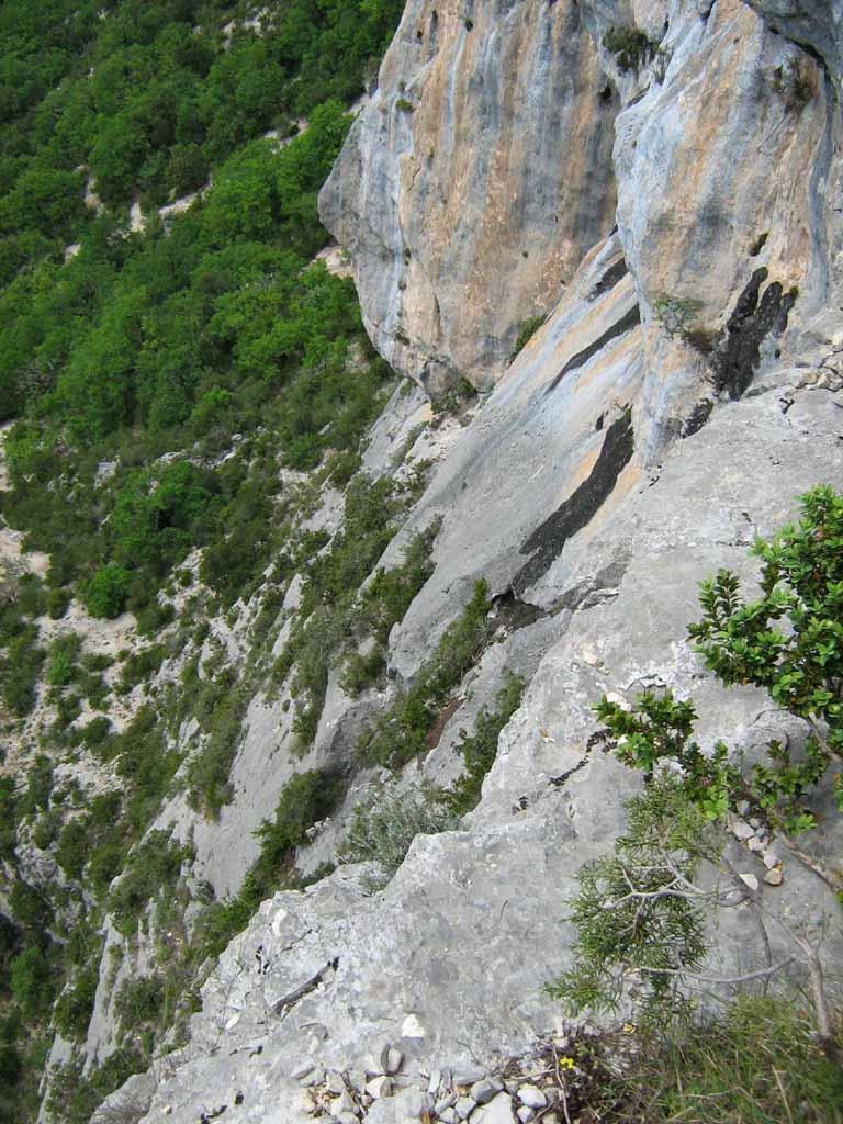 la via vista dall'alto