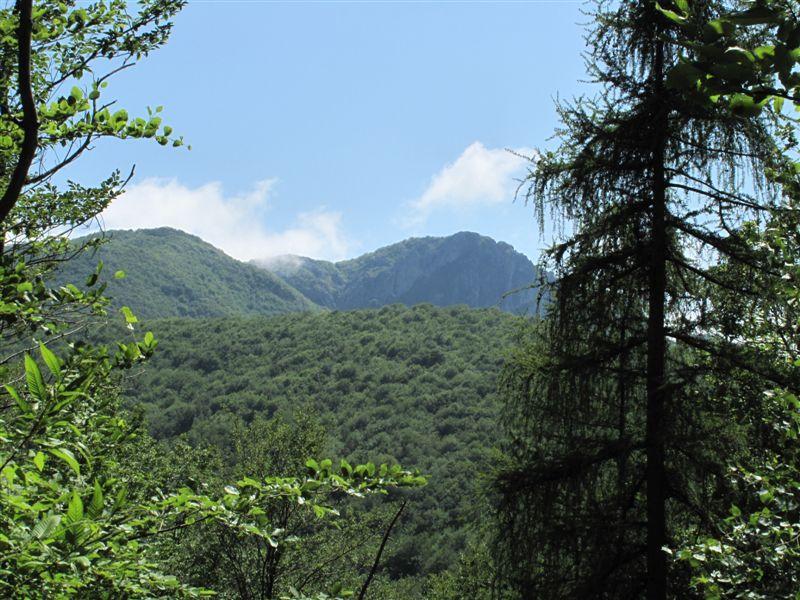 La Rocca Barbena appare in lontananza