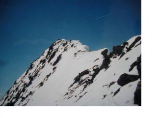 La cresta finale alla vetta del M.Lusse'