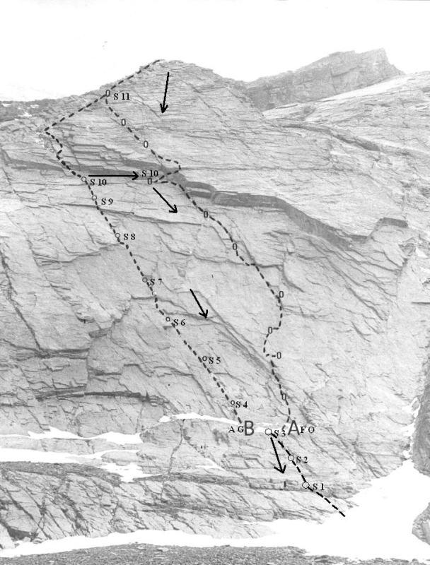 Itinerario della via Angelo Gaido (B)